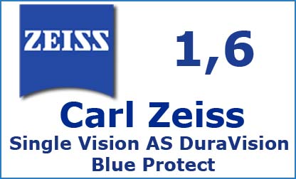 Carl Zeiss Single Vision 1.6 AS DuraVision Blue Protect