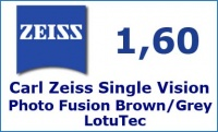 Carl Zeiss Single Vision 1.6 Photo Fusion LotuTec