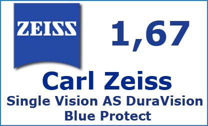 Carl Zeiss Single Vision 1.67 AS DuraVision Blue Protect