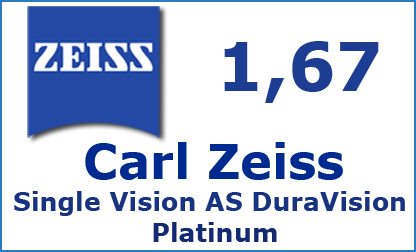 Carl Zeiss Single Vision 1.67 AS DuraVision Platinum