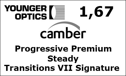 Younger Optics 1.67 Progressive Premium Camber Steady Transitions VII Signature