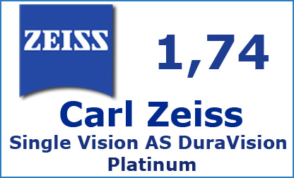 Carl Zeiss Single Vision 1.74 AS DuraVision Platinum