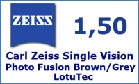 Carl Zeiss Single Vision 1.5 Photo Fusion LotuTec